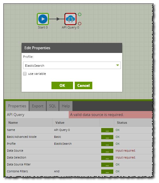 Ingesting AWS ElasticSearch Data via the API Query Component