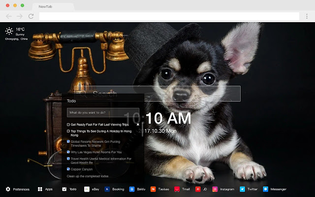 Chihuahua Pop Pet HD New Tabs Theme