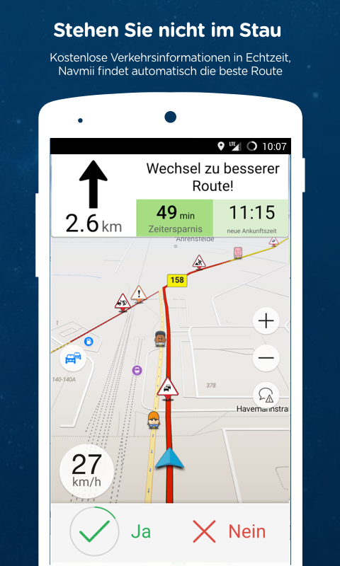 Navmii GPS Welt (Navfree) – Screenshot