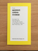 Photo: Eliza Gregory Massive Urban Change Postcards, 2015 Postcards, interviews, assignments  Photo credit Eliza Gregory