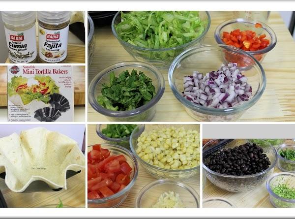 Ingredient preparation.