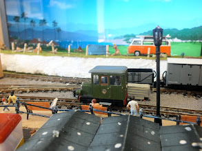 Photo: 017 A first viewing of this attractive little layout and I was honoured to be invited to arrive in my roving reporter railcar. Another one ticked off in the visits log! .