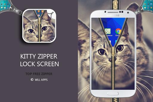Kitty Zipper Screen Lock
