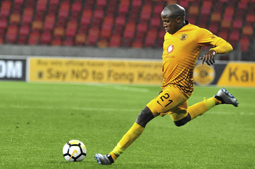 Lebogang Manyama of Kaizer Chiefs scored as his side lost to Zimamoto of Zanzibar yesterday. / Deryck Foster/BackpagePix