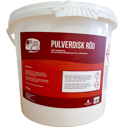 GS pulverdisk Röd 10 kg