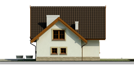 Dom przy Cyprysowej 25 - Elewacja prawa