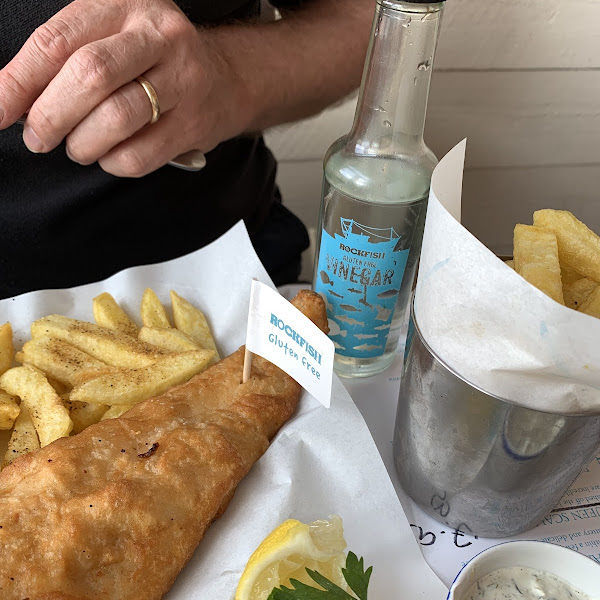 Gluten free Haddock and Chips with gluten free vinegar tooxxx