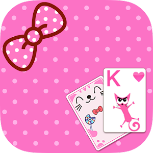 Solitaire Pink Kitten Theme for PC and MAC