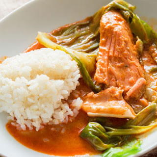 Cabbage Wrapped Red Curry Salmon