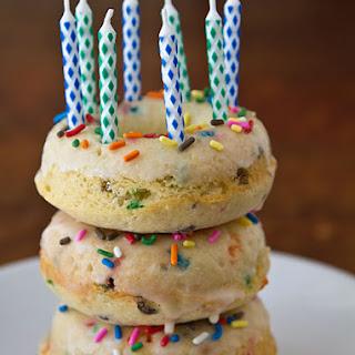 Confetti Cake Baked Doughnuts