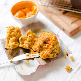 Savoury Cornbread Muffins with Harissa Butter