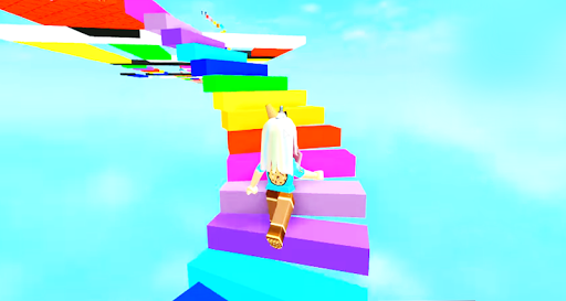 Download Jumping Into Rainbows Random Game Play Obby Guide For PC 2