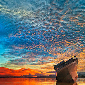 Burning Sky by Haslam Format - Transportation Boats ( ambon;passo;haslam;sky;landscape; )