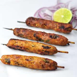 SPICY INDIAN CHICKEN SEEKH KEBAB WITH SPICES IN 30 MINS