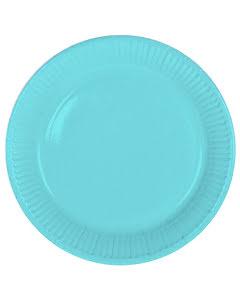 Tallrik, ljusblå, 8st.