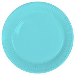 Tallrik, ljusblå
