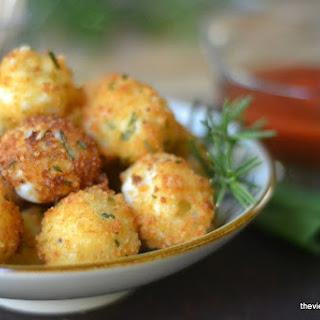Fried Rosemary Mozzarella Balls