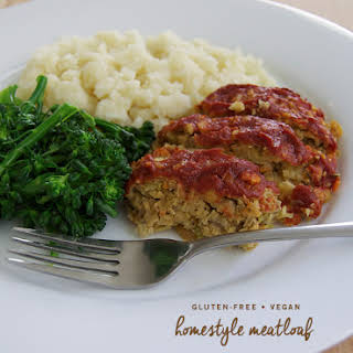 Gluten-free Vegan Home-style Meatloaf.