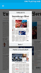 Luxemburger Wort E-Paper- screenshot thumbnail
