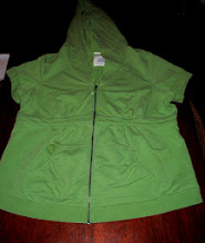 Photo: Leaf Green Hoodie Sweatshirt with Short Sleeves. Ruched and Empire Styled. VERY VERY Cute and great for summer nights. Old Navy Maternity XXL. has a few very very small light red spots on the front chest area and front right pocket seam, smaller than a pencil eraser. Not noticeable unless you are checking it over thoroughly. $4