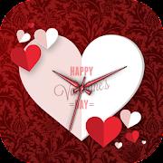 Valentine's day Clock Live Wallpaper