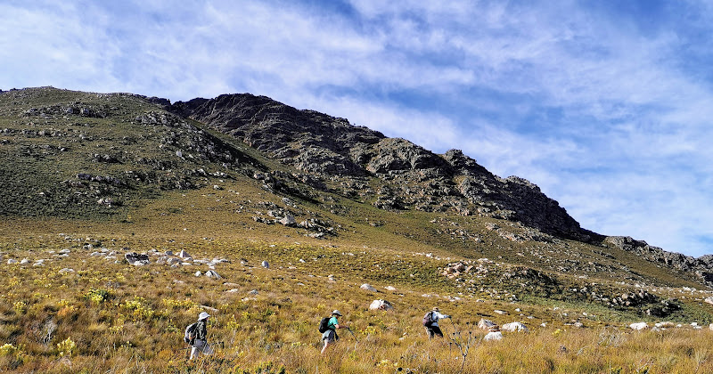 Hiking below the Hottentots Holland watershed