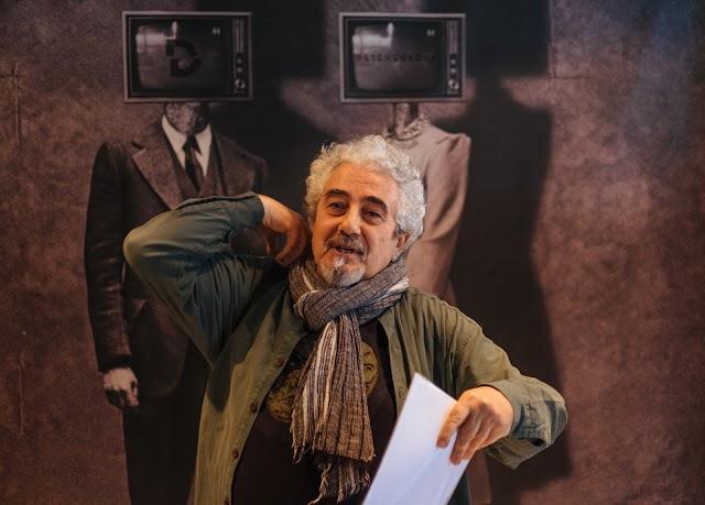 Carlos de Paz, en el \'photocall\' en el hall del Arqueológico.