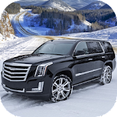 Offroad Escalade Snow Driving