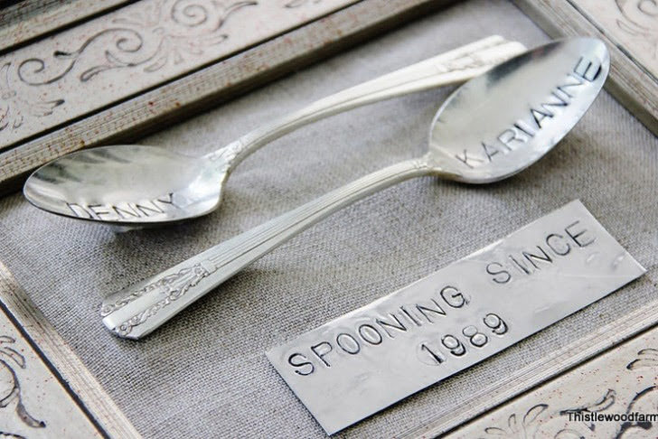 Spooning Since Silverware DIY (5 Unique Five Year Anniversary Gift Ideas).