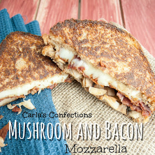 Mushroom and Bacon Mozzarella Grilled Cheese