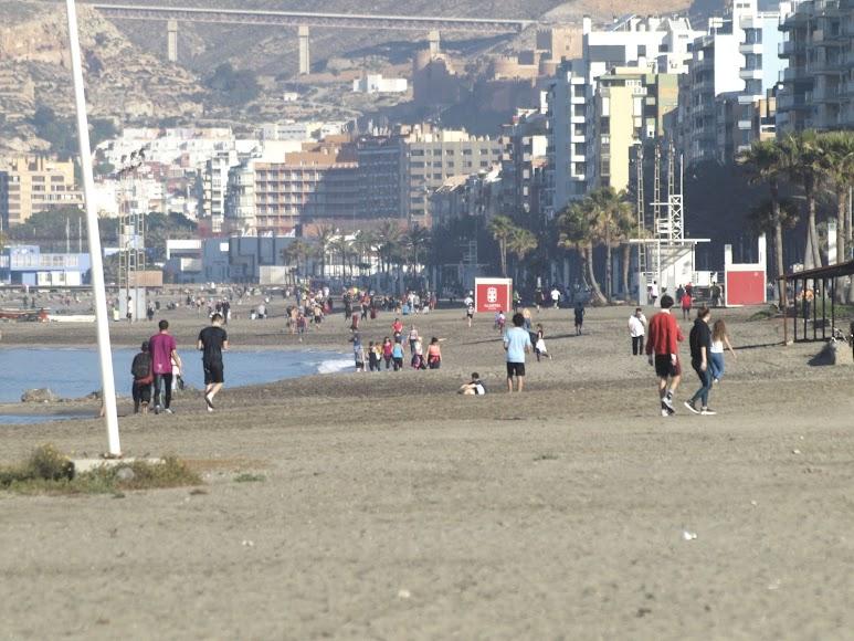 Aspecto de las playas en la mañana de este sábado.