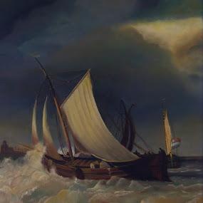 Dutch vessel of the 17th century by Bob Has - Painting All Painting ( water, vessel, sea, dutch, painting )