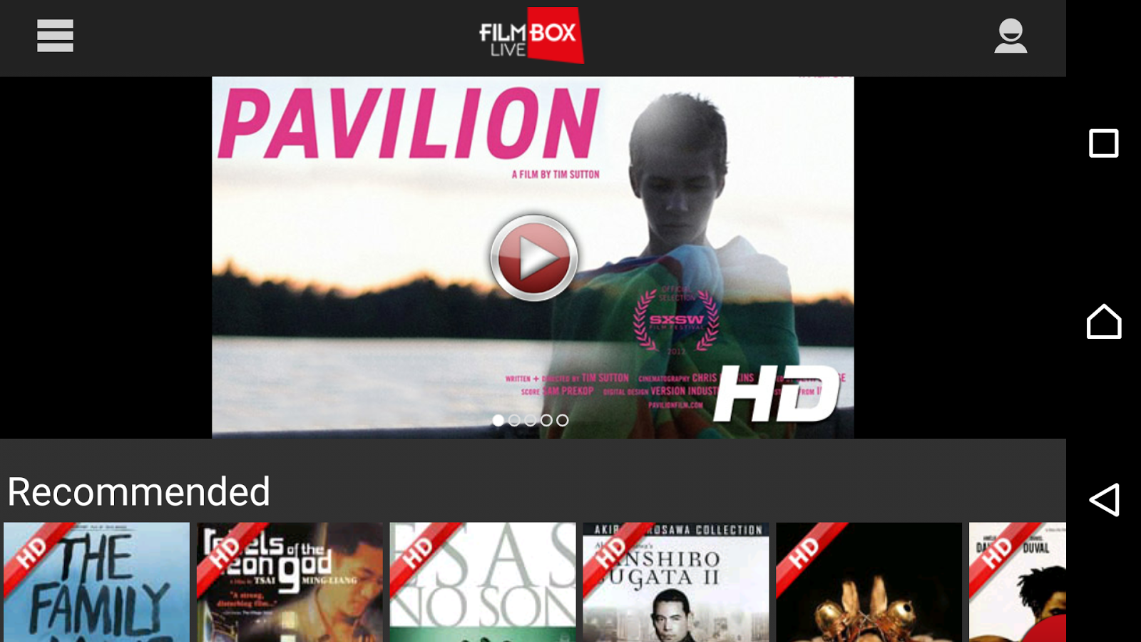 Filmbox Live- screenshot
