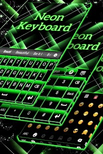 Neon Green Keyboard - náhled