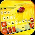Flower Ladybug Keyboard Background icon