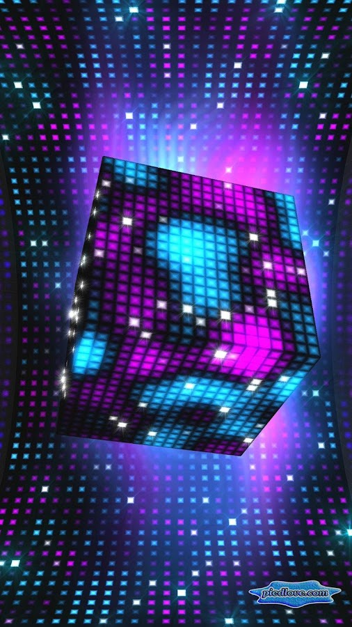 Bright Sparkling Pixel Cube 3D- screenshot