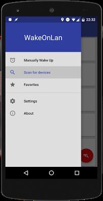 Wake On Lan - Scan - screenshot
