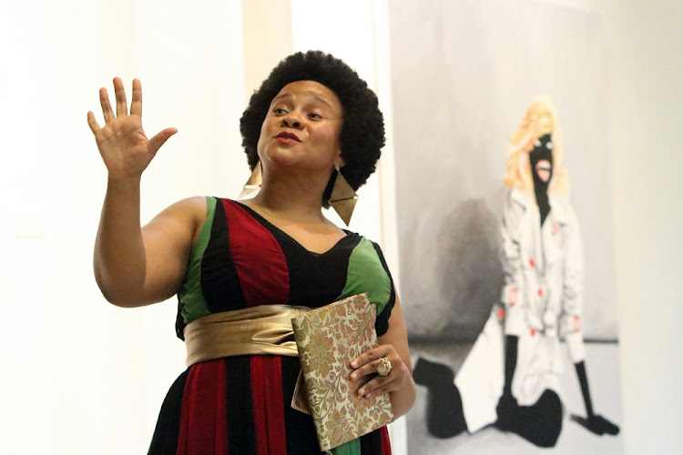 Sarah's story: Poet, performer and actress Lebo Mashile, the latest artist to take on the story of Sarah Baartman, turns the story on its head. Picture: ANTONION MUCHAVE