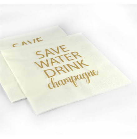 Servetter - Save water drink champagne