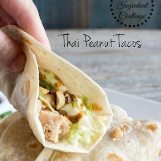 Thai Peanut Tacos