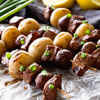 Steak & Potato Kebabs.