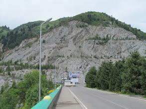 Photo: The earthen dam above Medeu