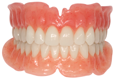 An example of acrylic dentures