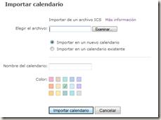 Importar Calendario
