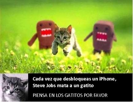Steve Jobs mata gatitos