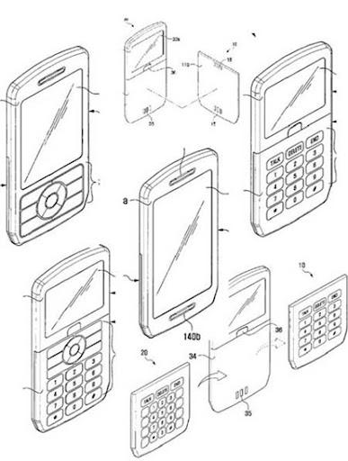 patente samsung teclado batería