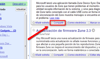 Compartir en Google Reader