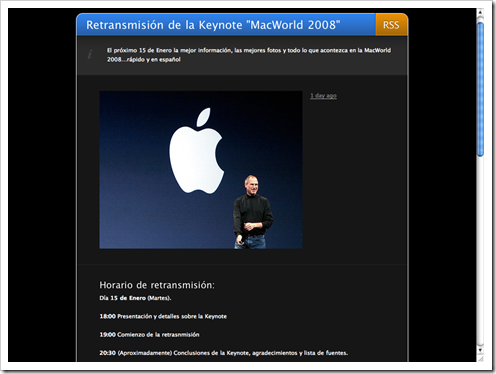 Retransmisión keynote