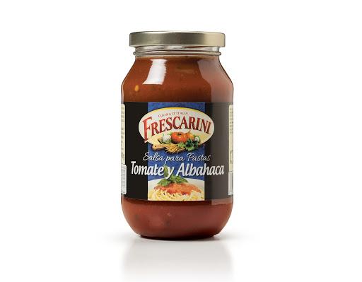 salsa para pasta frescarini tomate y albahaca 490gr