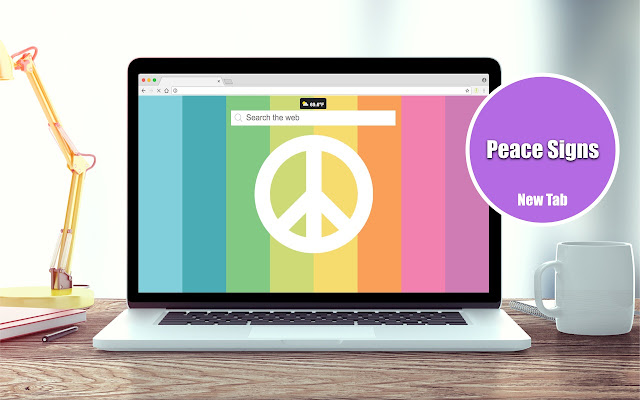 Peace Signs New Tab Theme